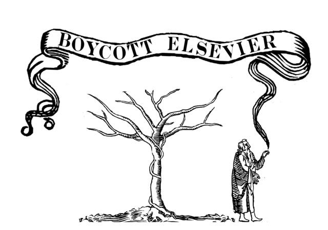 elsevier boycott poster