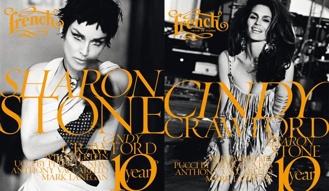 Sharon Stone és Cindy Crawford