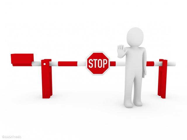 stockfresh 651641 3d-human-stop-barrier-red sizeM