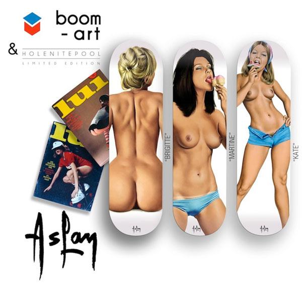 Pin-up gördeszkák a Boom-arttól