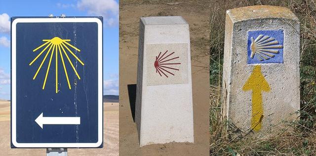 Útjelzőtáblák a Camino-n
