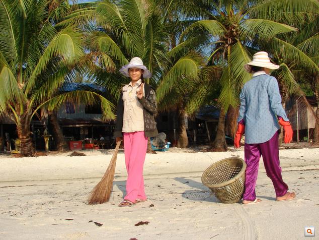 Tiszta homok, rendes strand
