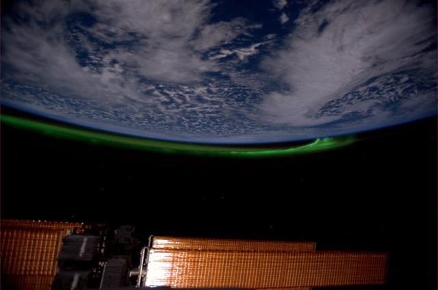 Sarki fény a Nemzetközi Űrállomás fedélzetéről