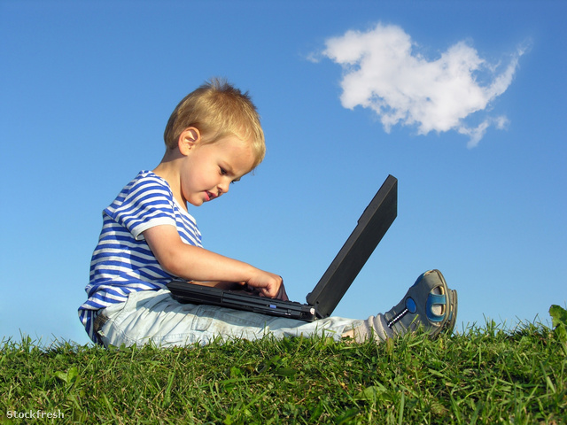 stockfresh 172668 child-with-notebook-sit-blue-sky-with-cloud si