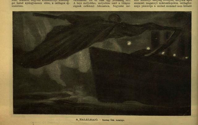 A halálhajó - Kacziány Ödön festménye a Vasárnapi Ujság április 28-i számában.
