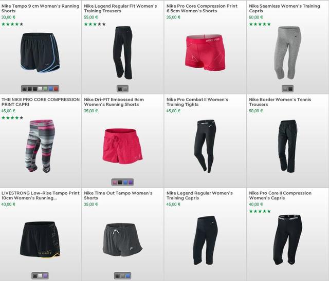 Nike nadrágok: szexis edzés