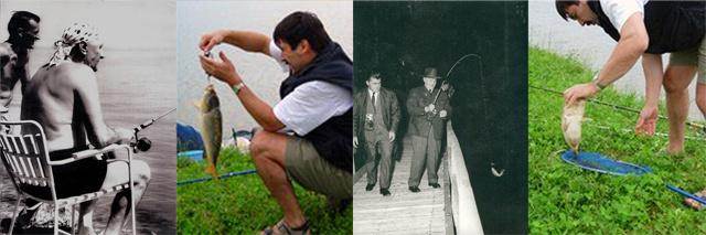 Kádár János a Balatonnál az átkosban, Áder János a ravazdi halastavaknál horgászott 2005-ben. Fotó: szakacsimre.hu