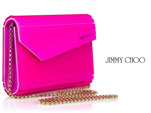 Jimmy Choo neon borítéktáskák