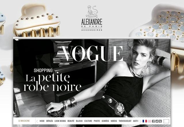 Így néz ki a francia Vogue honlapja.