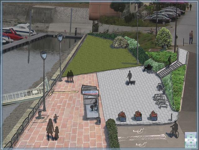A felújított Meder utcai hajóállomás látványterve (Forrás: BFVT)
