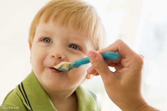 stockfresh 81212 mother-feeding-young-boy-baby-food sizeS
