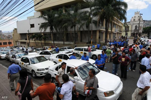 Taxisblokád Hondurasban