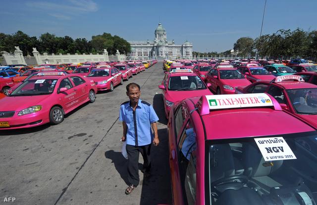 Taxisblokád Thaiföldön