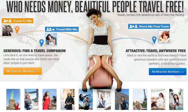 Tehetős pasikra találni a Miss Travel.com-on