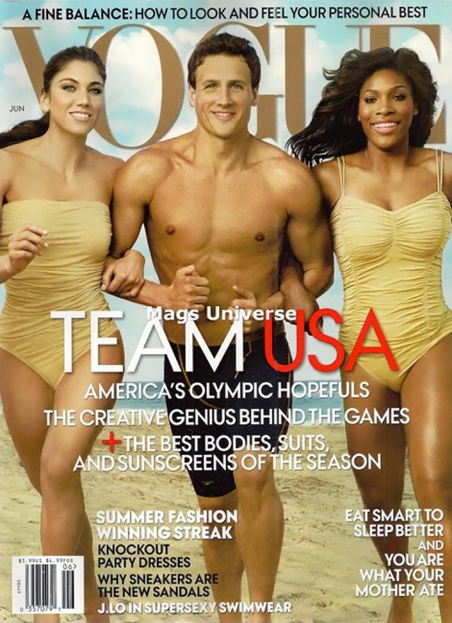 Amerikai sportolók a Vogue Americaban.