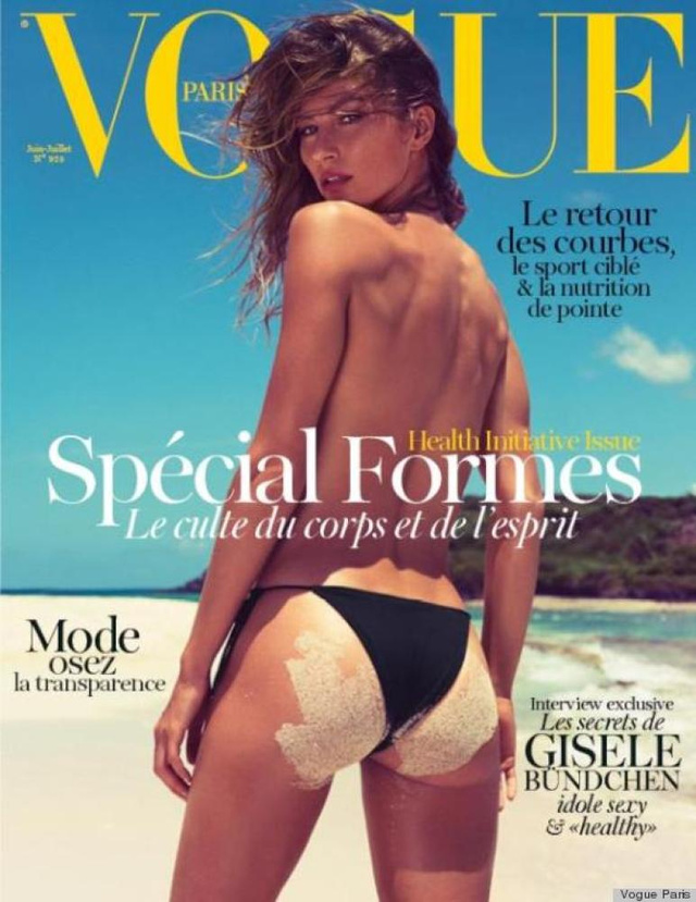 Gisele Bündchen a strandon a francia Vogueban.