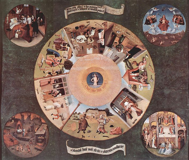 Hieronymus Bosch: A hét főbűn (1480körül)