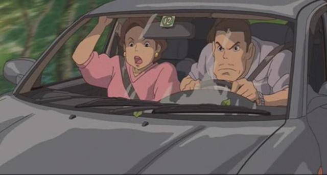 ASpeeding car