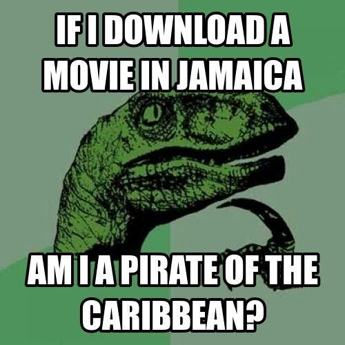 Ha letöltök egy filmet Jamaicán, akkor én vagyok a Karib-tenger kalóza?