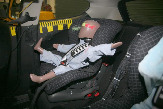 Az Euro NCAP szabvány szerint végzett gyereküléstesz