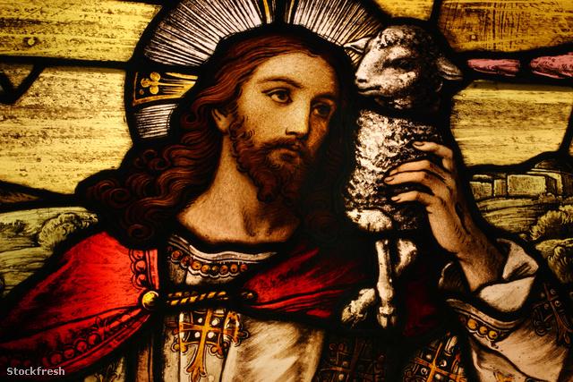 stockfresh 154321 jesus-with-lamb sizeM