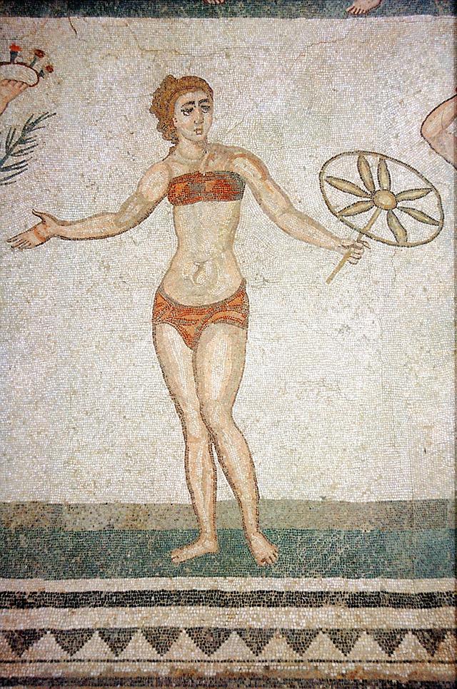 Bikini az ókori Római Birodalomban is népszerű volt.