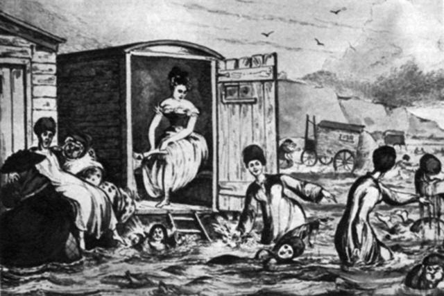 Fürdőkocsi a XX. század elején