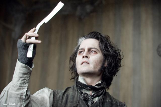 Johnny Depp a Sweeney Todd - A Fleet Street démoni borbélya című filmben
