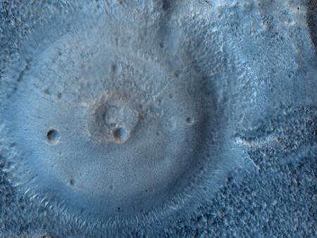 A Mars Odyssey felvétele a felfedezett vulkános területről.