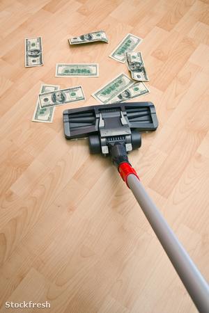 stockfresh 250883 vacuum-cleaner-and-money sizeM