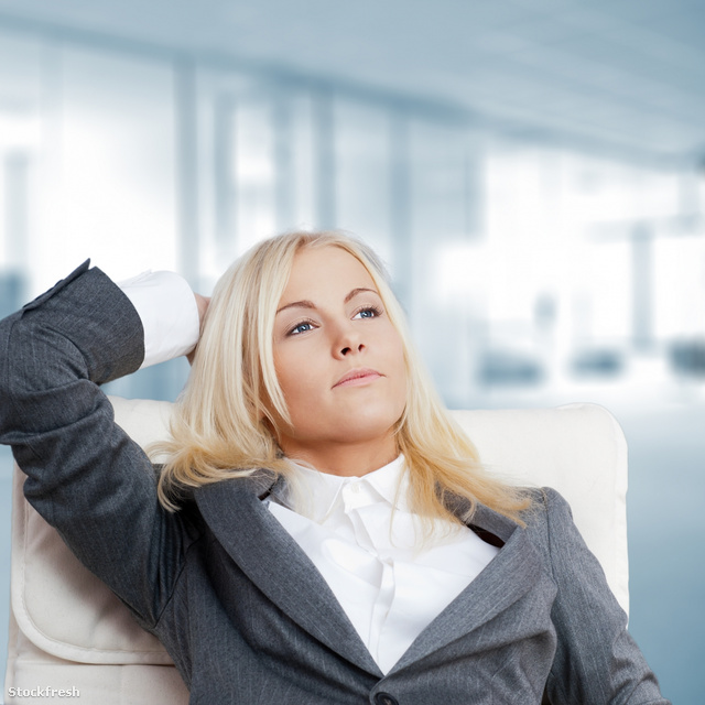 stockfresh 1505648 happy-business-woman-in-the-office-resting-an