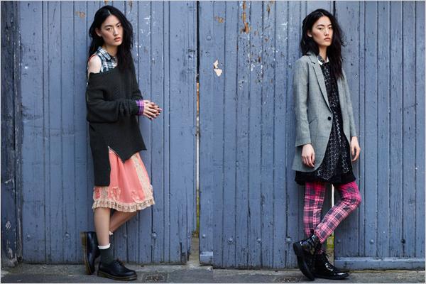 Réteges öltözködés és kockás anyagok a brit márka őszi-téli kollekciójában.