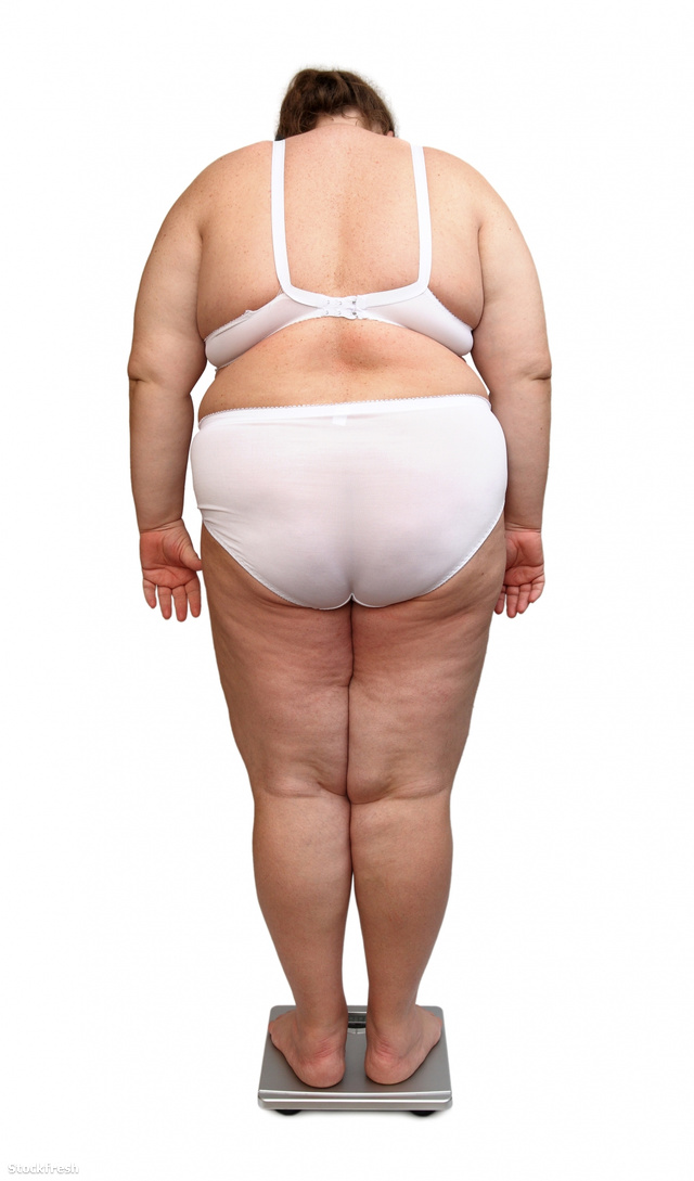 stockfresh 672731 women-with-overweight-from-behind-on-scales si