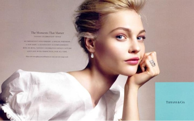 Az orosz modell a 2008-as Tiffany kampányban