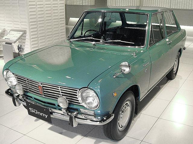 Ez a kis helyes, Zsiguli-tekintetű autó az első Nissan Sunny