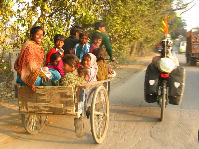 India: egy család, egy riksa