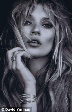 Kate Moss az ékszer kampányban