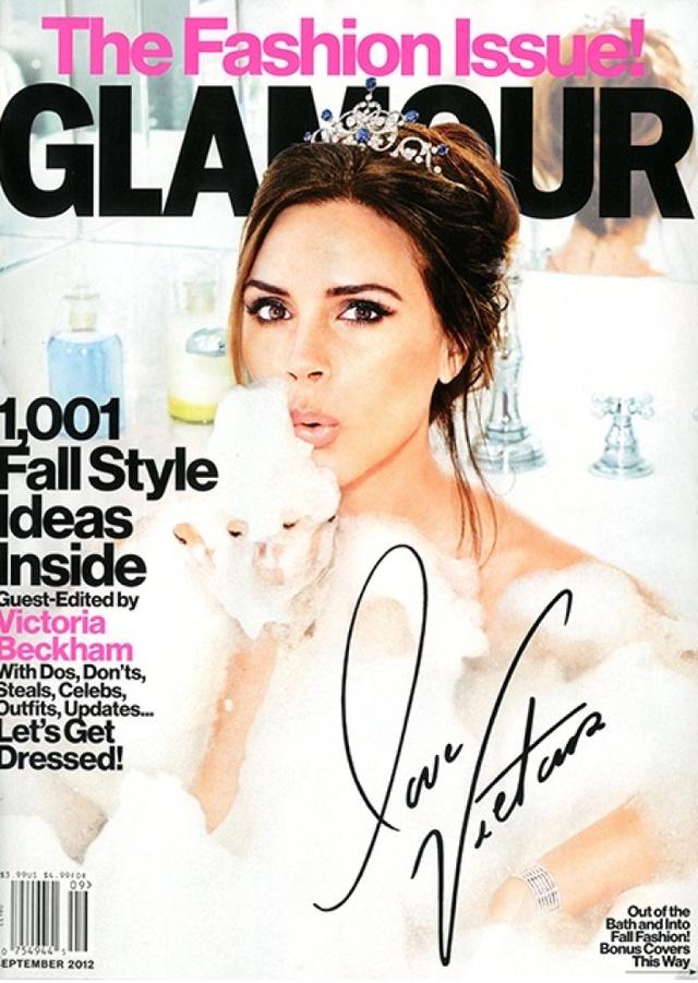 Egyik kedvenc címlapunk, Beckhamné a fürdőkádban