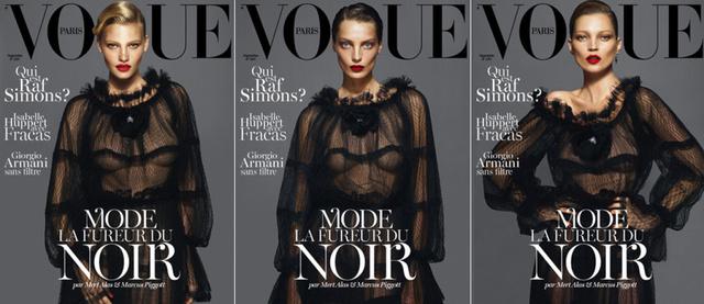 A francia Vogue három címlapja.