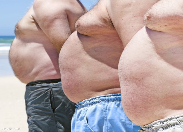 stockfresh 895163 close-up-of-three-obese-fat-men-of-the-beach s