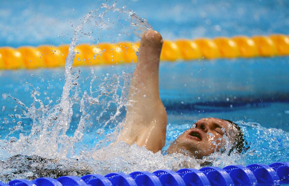 Vereczkei Zsolt bronzértmet nyert a férfi 50 méteres hátúszásának döntőjében az S5-ös sérültségi kategóriában.
