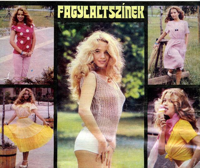 Marjai Judit - Fagylaltszínek. Retró plakát, 1981.