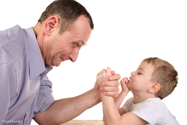 stockfresh 646428 boy-grandfather-wrestling sizeM