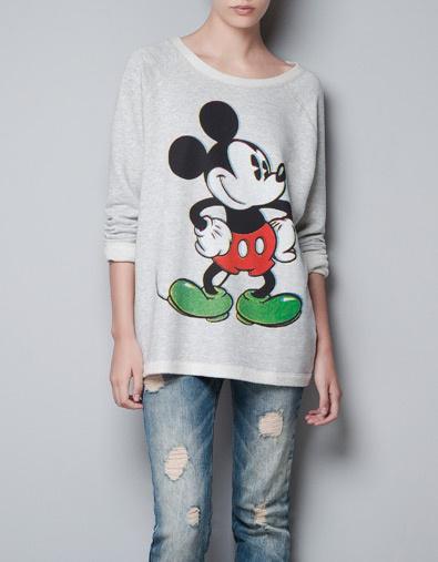 Mickey egeres pulcsi a Zarában 8595 forint