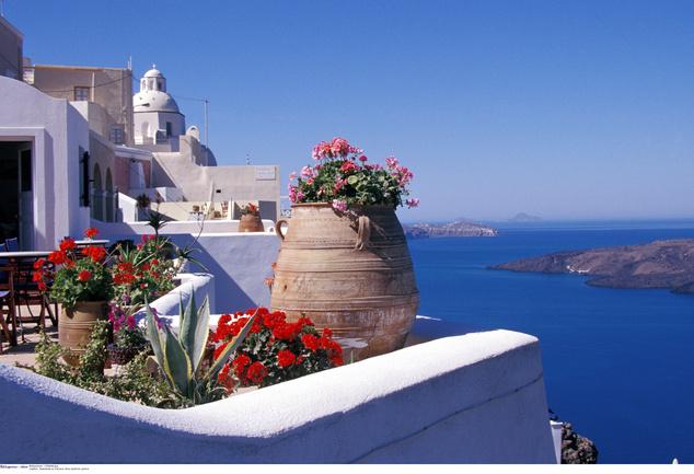 Santorini és a kékség