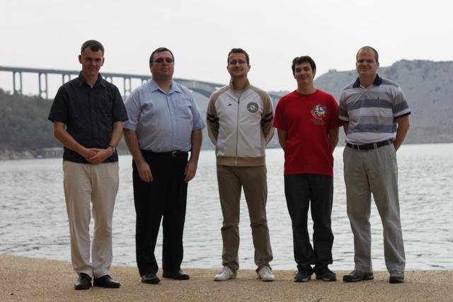 A magyar csapat: Madarassy Pál, István György, Németh Zoltán, Horváth Zoltán és Gyimesi Zoltán
