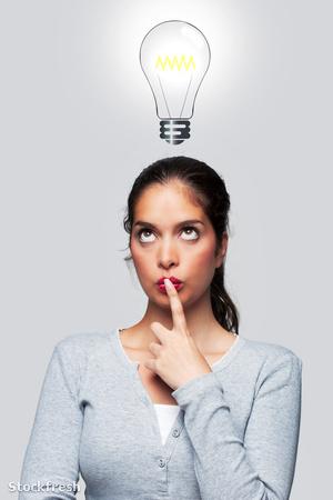 stockfresh 216001 women-with-a-bright-idea sizeM