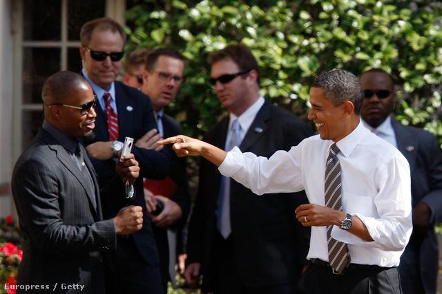 Jamie Foxx és Barack Obama