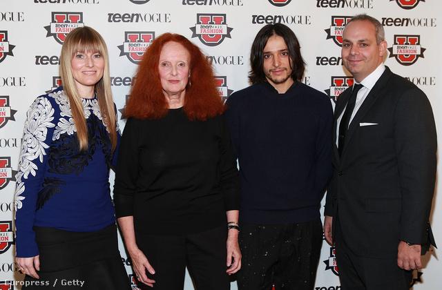 Amy Astley, Grace Coddington,Olivier Theyskens és Jason Wagenheim a Teen Vogue Fashion Universityn.