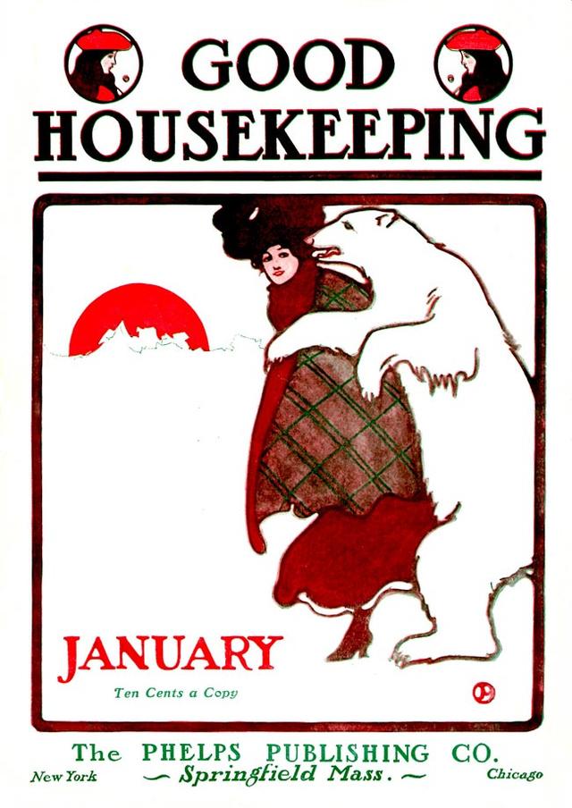 A Good Housekeeping címlapja jegesmedvével 1904-ben